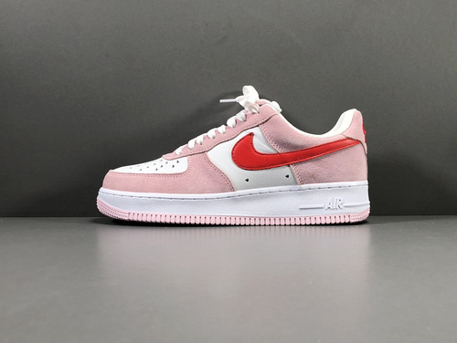 "【GOD版】粉红 情人节 Nike Air Force 1 '07  QS""Valentine·s Day""货号:DD03384-600_莆田god版本和h12版本哪个好"