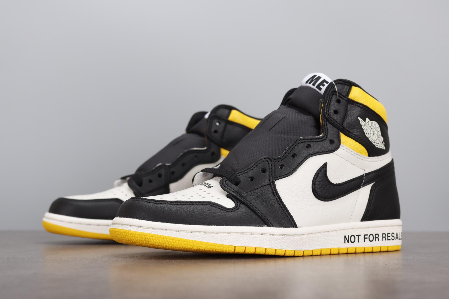 """LJR版本 Air Jordan1 NRG """"No L's"""" AJ1 禁止转卖 黑黄 861428-107_ljr版本好还是get版本好"""