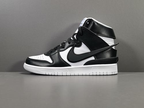 """【GOD版:DUNK】黑白 Nike Dunk High """"Black""""货号:313170-342_莆田god版本鞋是什么意思"""