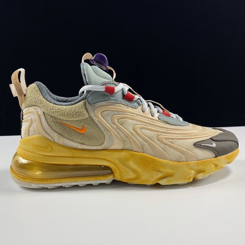 Travis Scott x Nike Air Max 270 React ENG TS黄深棕橙配色 CT2884-200_aj鞋性价比和ljr版本