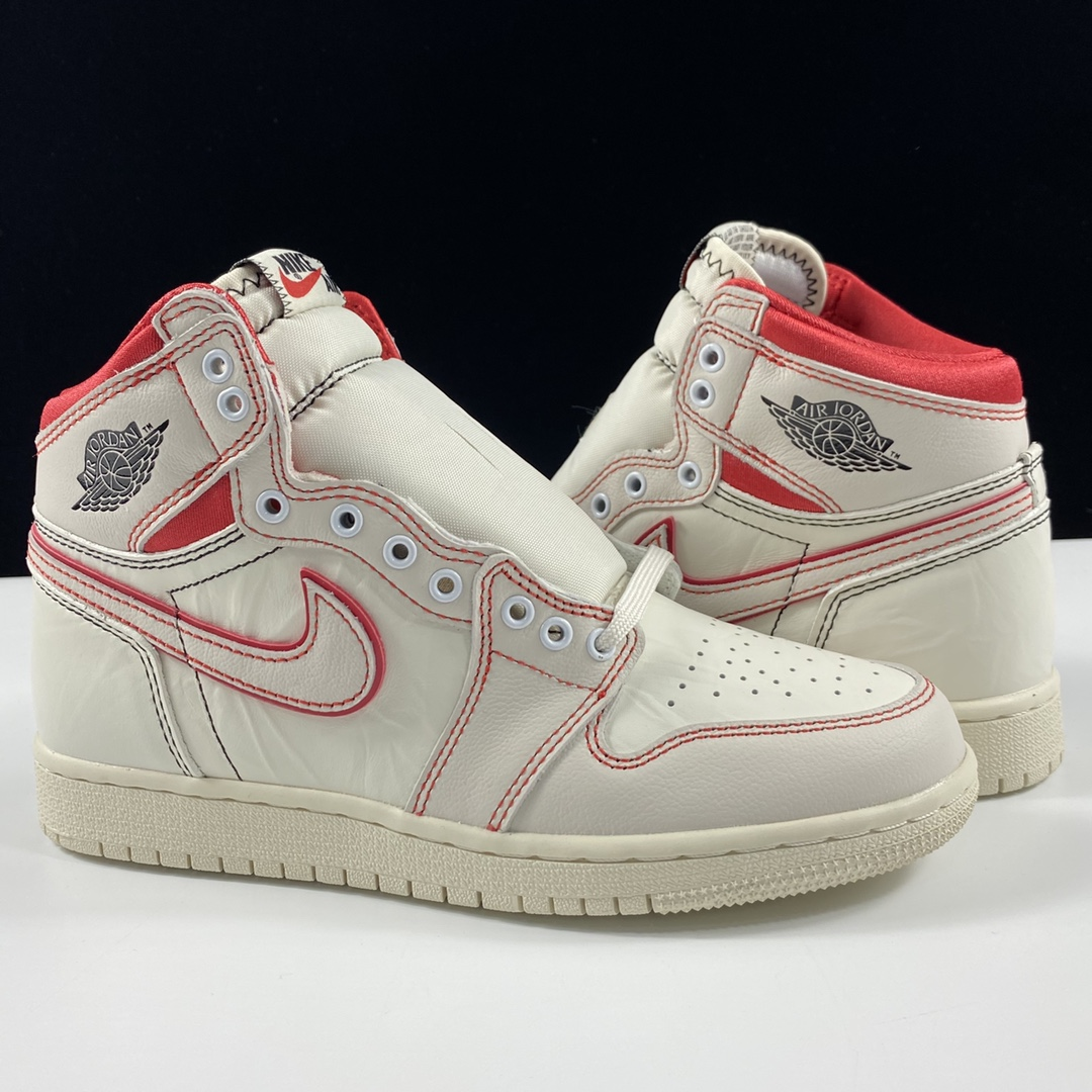Air Jordan 1 Retro High PhantomOG AJ1 白红手稿 兔八哥文化篮球鞋 555088-160_ljr版本的yeezy