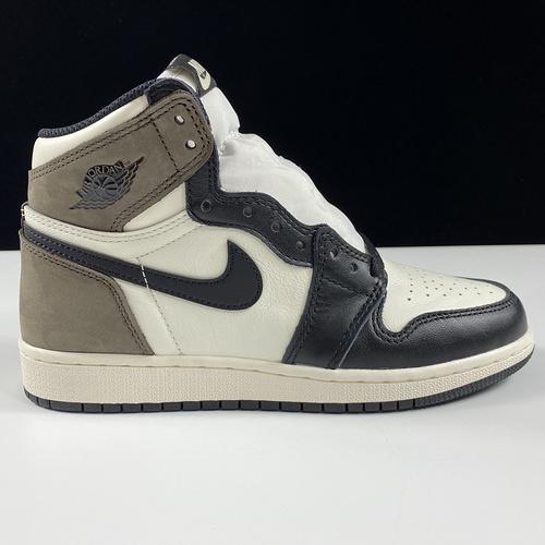 "aj1小倒钩女鞋 Air Jordan 1 High OG"" Dark Mocha"" GS 黑摩卡 575441-105_椰子350ljr和h15是什么版本"