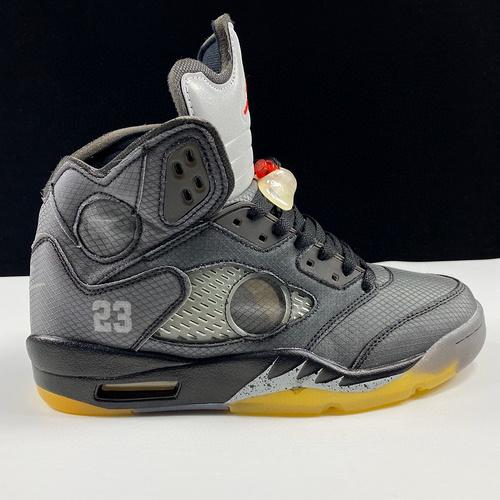 LJR版本Off-White™ x Air Jordan Retro 5 美系潮流奢牌再度联乘 AJ5迎来30周年限定 OW黑蝉翼3M配色 CT8480-001_ljr版本椰子怎么样