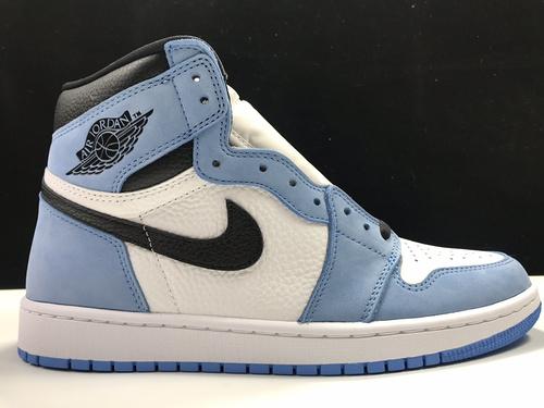 S2版:AJ1 大学蓝 莞产 Air Jordan 1 RETRO HI OG,大学蓝 货号:555088-134_莆田god版本鞋是什么意思