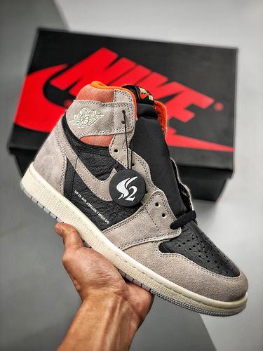 "S2-OG纯源 Air Jordan 1 Retro ""Neutral Grey"" 灰粉做旧 555088-018_莆田鞋纯原什么水平"