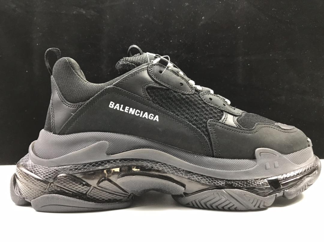 【S2版:巴黎复古】 黑气垫  Balenciaga Tripe-S 巴黎世家复古老爹鞋_椰子ljr版本是什么意思