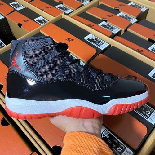 """Air Jordan 11 """"Bred """"全新2019年全新版本 年底压轴大戏 19版黑红大魔王配色 378037-378038-061_ljr版本大概多少钱"""