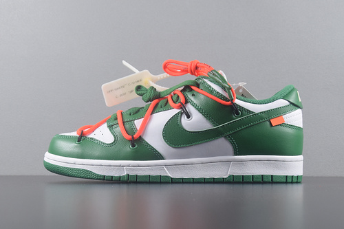OFF-WHITE X NIKE DUNK LOW PINE GREEN OW联名 白绿 CT0856-100_椰子g5什么意思