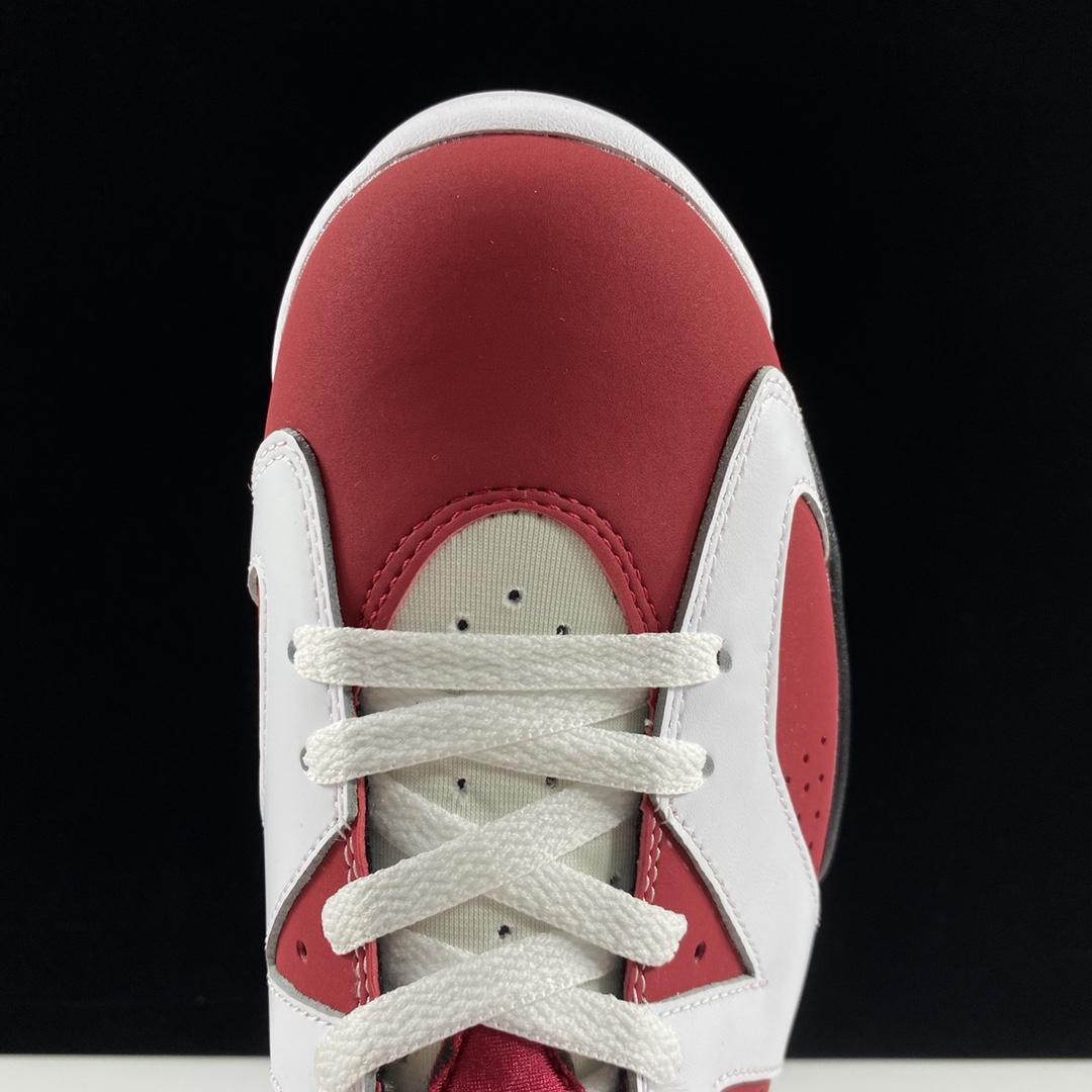 """莞顶L Air Jordan 6 Retro Carmine Air Jordan 6 """"Carmine""""胭脂红配色 384664-160_椰子满天星ljr版本"""