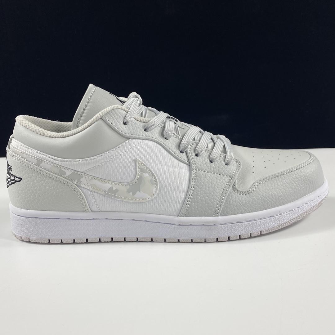 """莞顶L Air Jordan 1 LowWhite CamoAJ1乔丹一代低帮经典复古文化休闲运动篮球鞋""""白灰迷彩""""DC9036-100_ljr版本对比"""