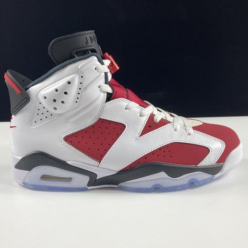 """莞顶L Air Jordan 6 Retro Carmine Air Jordan 6 """"Carmine""""胭脂红配色 384664-160_莆田god版"""