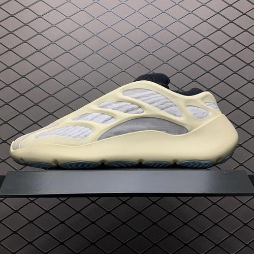 纯原版本 Adidas 阿迪达斯 Yeezy 700V3  Azael侃爷椰子夜光鞋面异型复古老爹鞋 FW4980 外星人 原鞋开发 正确鞋型重点看后跟原装BOUNCE 聚氨酯包裹 EV_aj1特供版