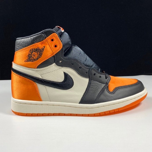 LJR丝绸版 Air Jordan 1 Retro OG SatinShattered Backboard丝绸黑橘白扣碎配色 AV3725-010_ljr版本