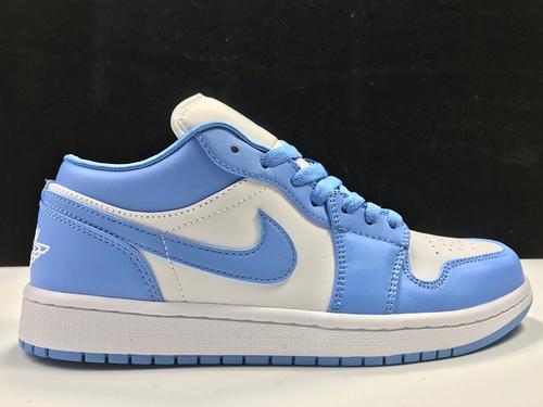 莞H版:AJ1 Low北卡蓝低帮 Air Jordan 1 low OG,货号:A09944-441_莆田god版本鞋做的怎么样