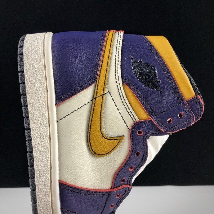 "LJR版本湖人紫金 Nike SB x Air Jordan 1 Retro High OG ""Court Purple"" 鞋面可刮开 湖人紫金刮刮乐配色 CD6578-507_ljr版本和正品"