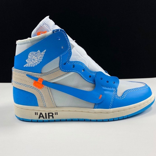 OG版 Off-White x Air Jordan 1 OW白蓝涂鸦配色 AQ0818-148_LJR版本多少