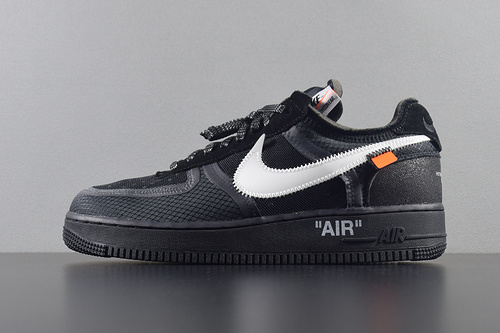 "Top版本 Off-White x Nike Air Force 1 Low ""Black"" AO4606-001 OW联名空军低帮 黑色_g5椰子几张"