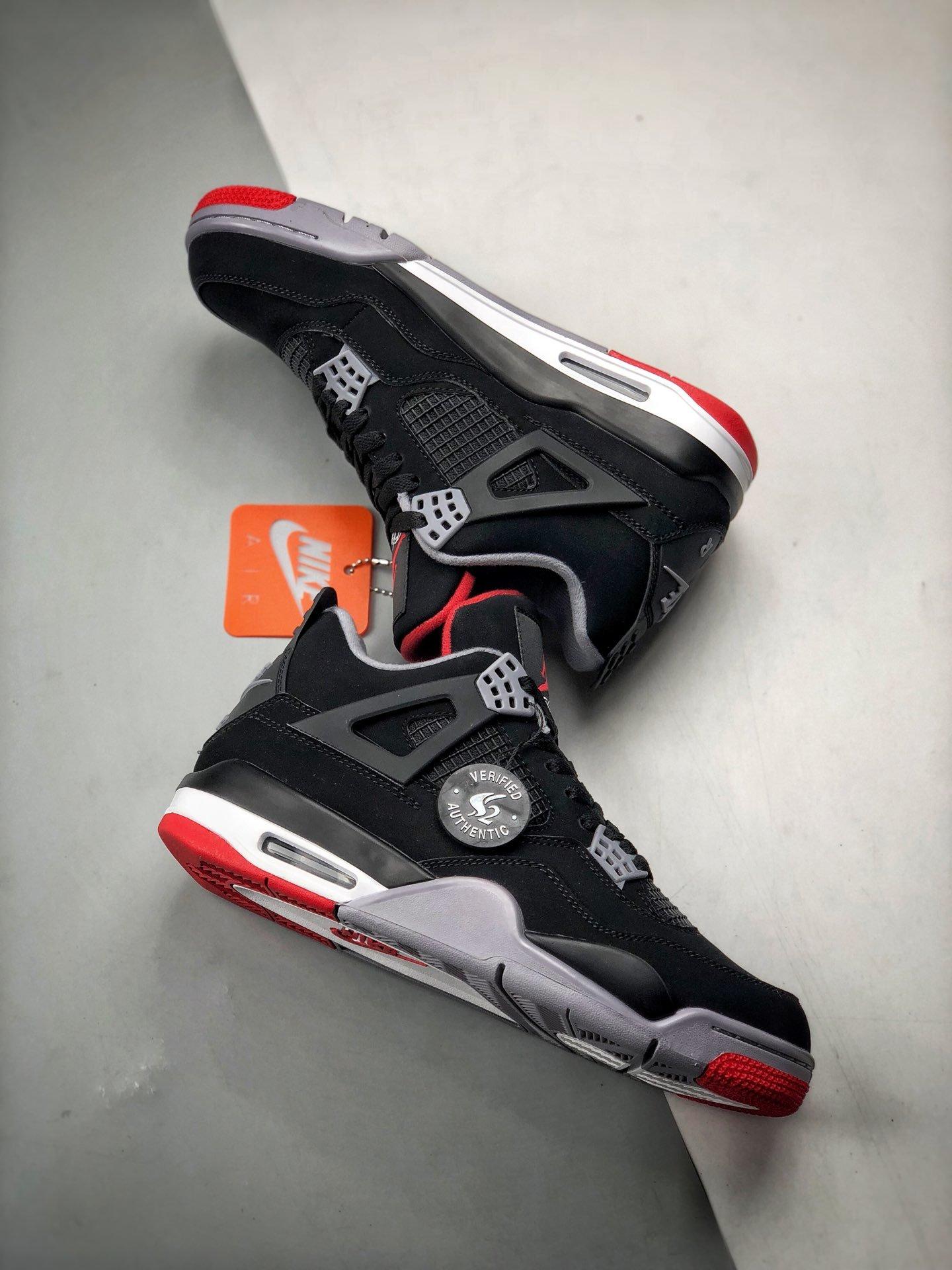 S2纯原 Air Jordan 4 'Bred'  黑红_st s2纯原
