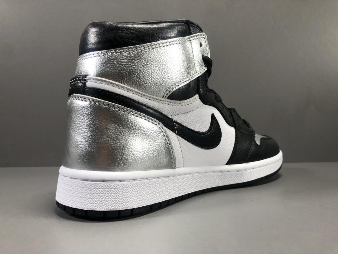"【GOD版:乔1】 黑银Air Jordan 1  High OG Reto""Siler Toe""货号:CD0461-001_莆田god版本鞋是什么意思"