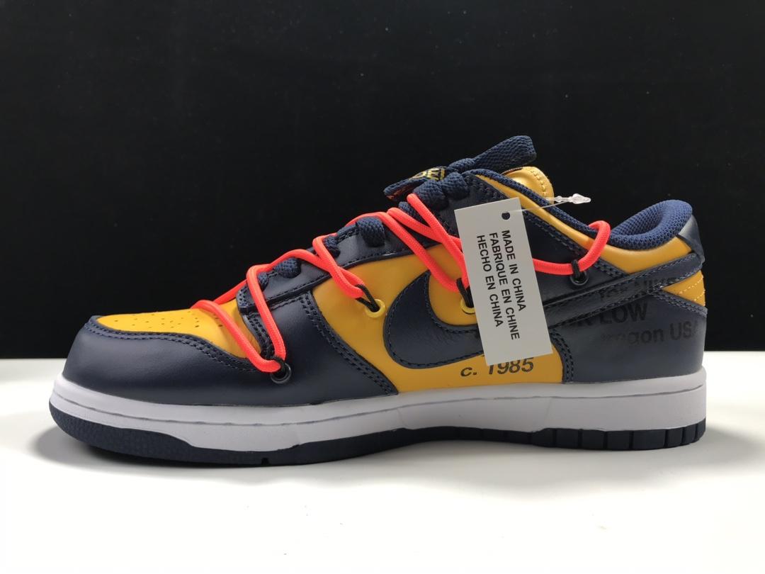 【Y3版:SB联名】蓝黄  off-White x Futura x NK SB Dunk OW联名,货号:CT0856-700_莆田ljr的鞋盒