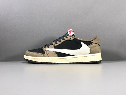 【OG版:乔1】深棕  Travis Scott Air Jordan 1  Low OG TS SP 货号:CQ4277-001_淘宝上椰子鞋高版本和普通版