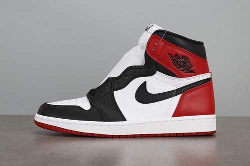LJR版 AIR JORDAN 1RETRO HIGH OG  AJ1 黑白脚趾 555088-125_莆田god版本