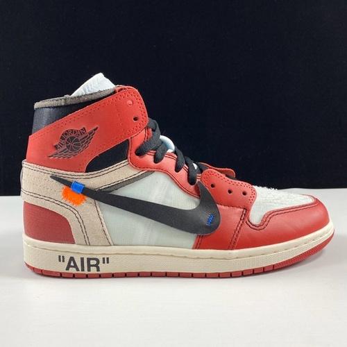 OG版本纯原 Off-White x Air Jordan 1 OW疯狂公牛涂鸦配色 AA3834-101_鞋ljr是什么版本