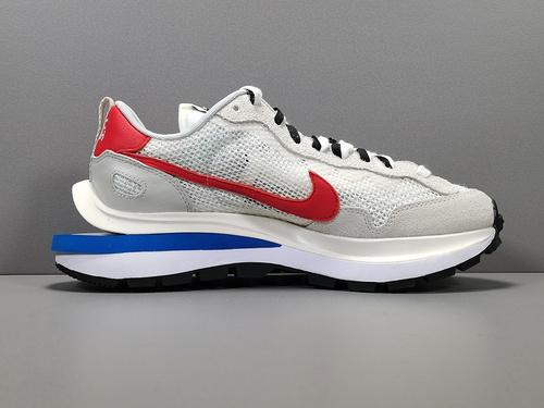 【X版:双勾3.0】白红 sacai x Nike VaporWaffle 货号:CV1363-100_莆田x版对比正品