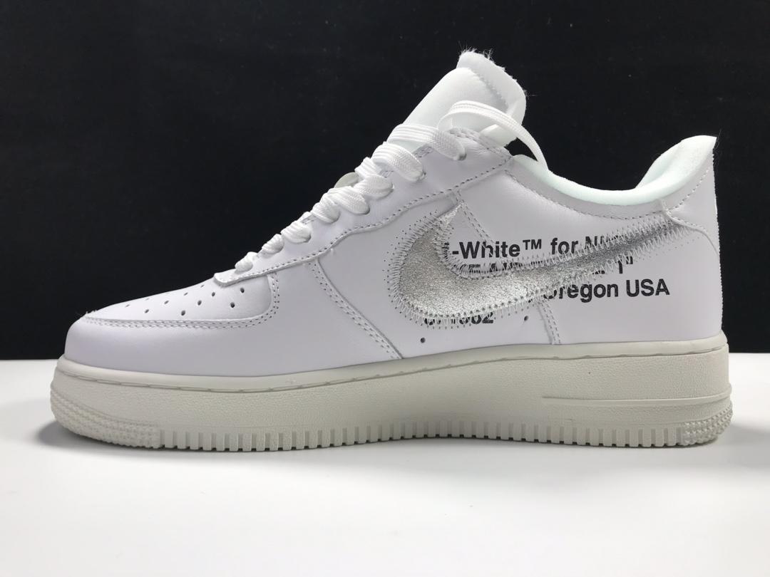 纯原版:空军OW 白银   Air Force 1 '07 Off White ,货号:AO4297-100_ljr版本的aj