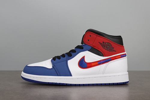 Air Jordan 1 AJ1 Mid 红蓝 白红蓝 拼接彩钩852542-146