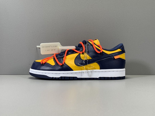 X版纯原_DUNK OW 蓝黄 OFF-WHITE x Nike Dunk Low,货号_CT0856-700_莆田g5和x版本