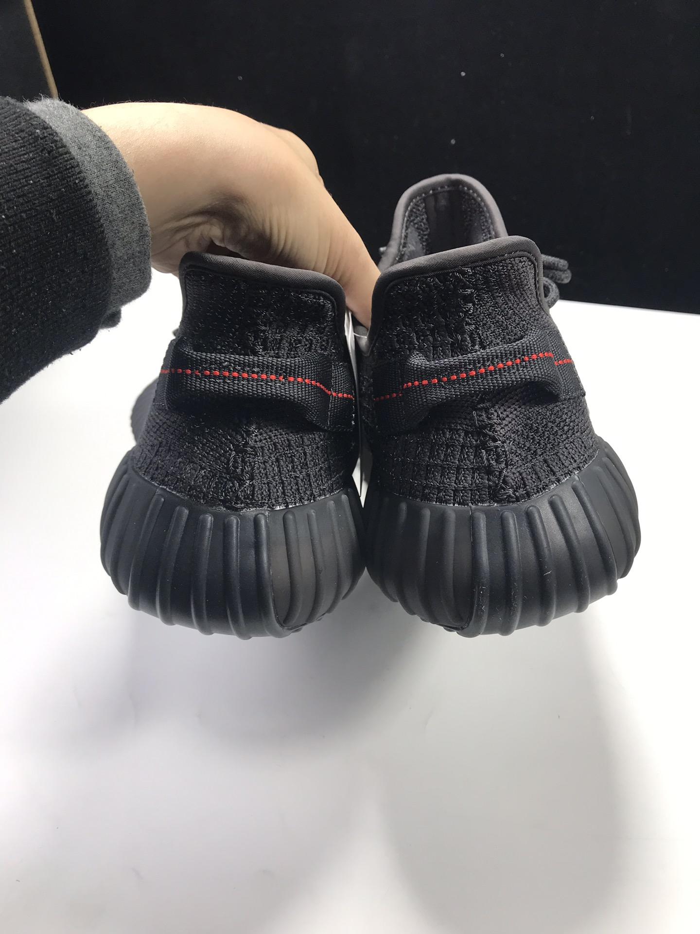 """【特供版:350V2】 黑满天星  Adidas Yeezy Boost 350 V2 """"BLACK STATIC"""",货号:FU9007_Ljr版本黑灰影子"""
