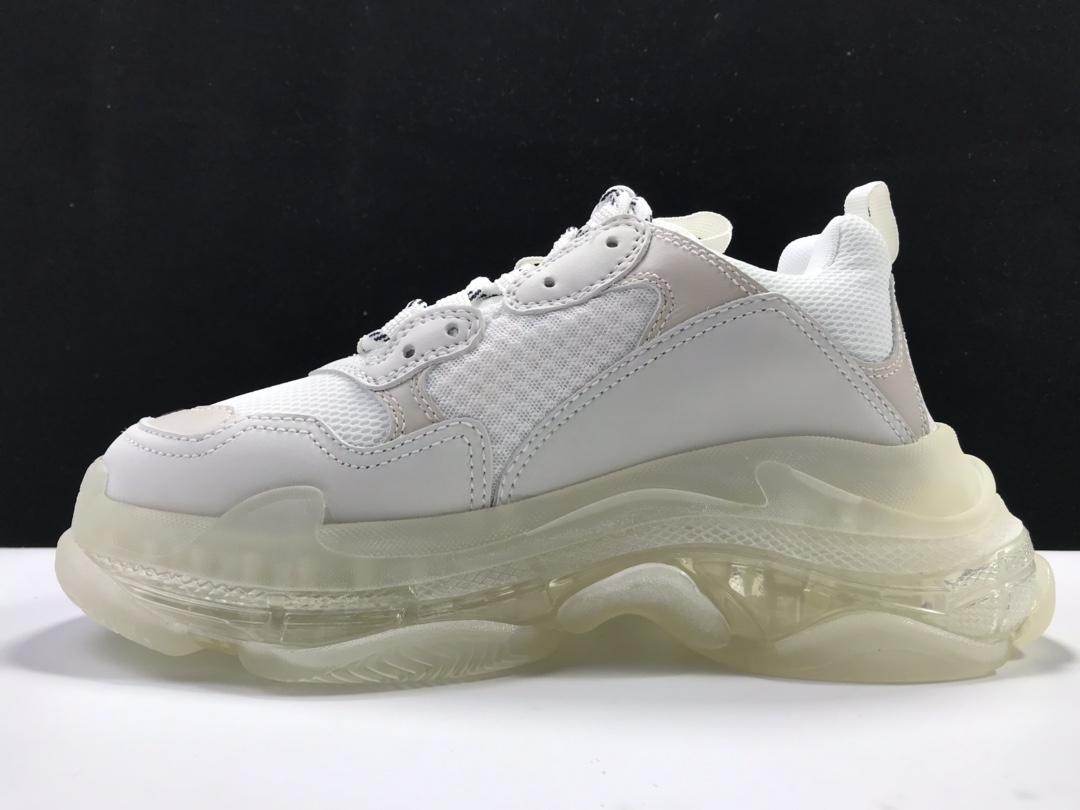 【意产版:巴黎复古】 白色气垫  Balenciaga Tripe-S 巴黎世家复古老爹鞋_莆田get和ljr版本