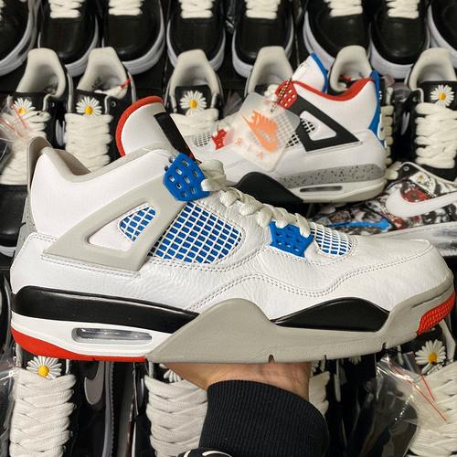 """东莞AJ4版本Air Jordan 4 """"What The"""" 裕 鸳鸯白红蓝水泥配色 CI1184-146_ljr版本康扣"""