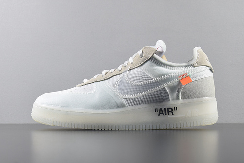 "Top版本 Off-White x Nike Air Force 1 Low ""White"" AO4606-100 OW联名空军低帮 白色_纯白椰子g5"