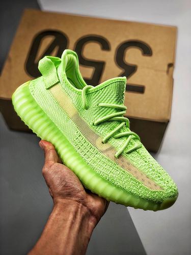 性价比Yeezy 350 Boost V2 'GID' 夜光绿_aj鞋特供版
