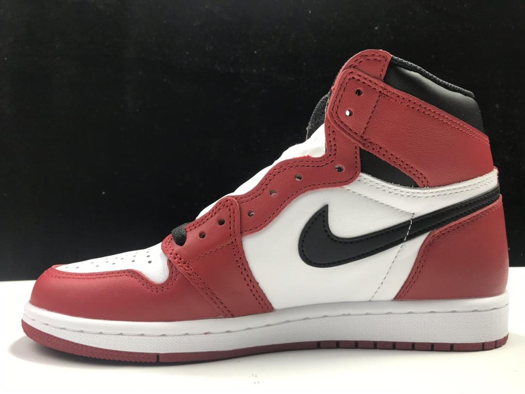 L版:AJ1芝加哥   莞产 Air Jordan 1 RETRO HI OG,货号:555088-101_椰子ljr版本和g5版本哪个好