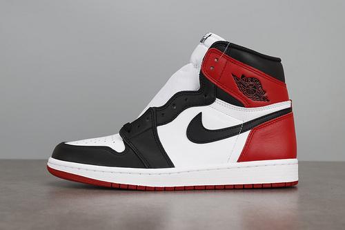 LJR版 Air Jordan 1 OG High Black Toe AJ1 乔1黑脚趾年配色球鞋555088-1_ljr版本白扣碎