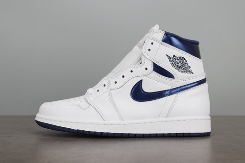 Air Jordan 1 Retro OG High Metallic Navy海军蓝 555088-106_鞋ljr是什么版本