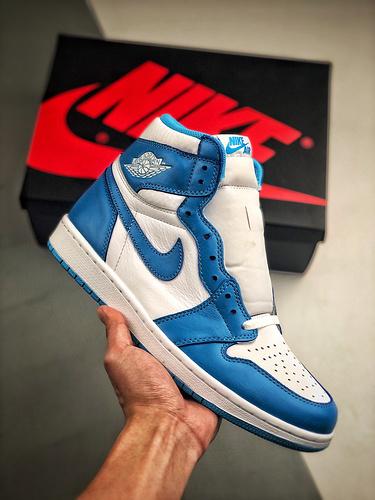 "Air Jordan 1 Retro High OG ""UNC"" 十月重磅""UNC""北卡蓝再现 AJ1代经典复古经典高帮篮球鞋 北卡蓝白配色 555088-117_s2纯原aj多少钱"