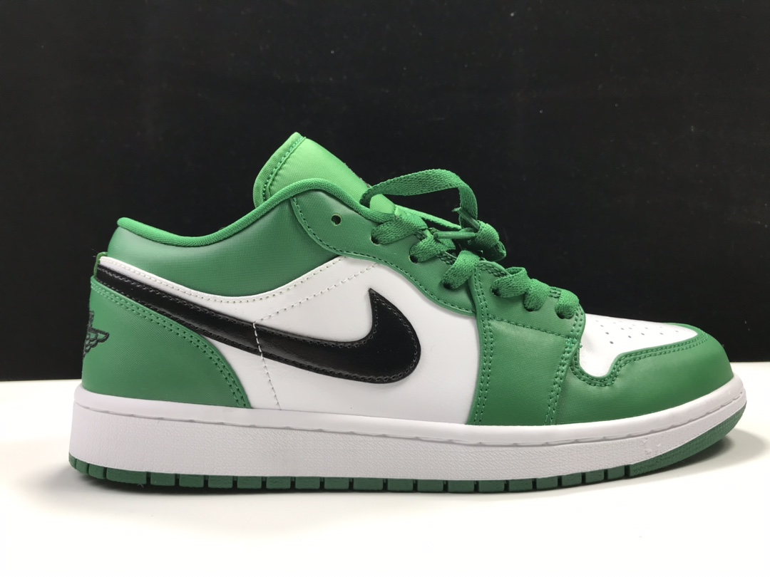 莞H版:AJ1 Low小凯尔特人白绿低帮 Air Jordan 1 low OG,货号:553558-301_莆田god版本鞋是什么意思
