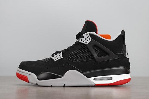 LJR版本 Air Jordan 4 Bred AJ4 黑红年 19年 308497-060_莆田鞋god版是什么意思