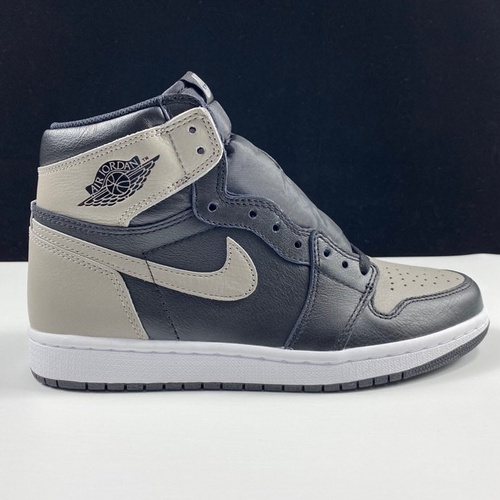 "aj1黑灰 LJR版本影子 Air Jordan 1 Retro OG ""Shadow"" 灰影子配色 555088-013_ljr版本微商"