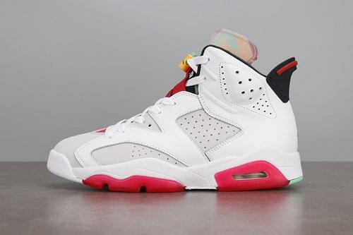 纯原版本 Air Jordan 6 Hare AJ6 兔八哥 白红彩蛋 篮球鞋 CT8529-062_莆田Ljr版本倒勾