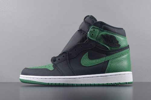 "【GET版AJ高帮】AIR JORDAN 1 RETRO HIGH OG ""Pine Green"" 黑绿脚趾 555088-030_椰子g5与pk"