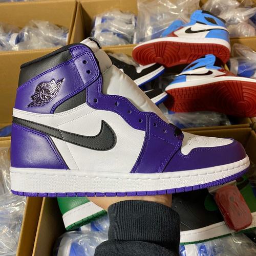 aj1新白紫 LJR版本 紫加哥白紫葡萄脚趾配色 575441-500_莆田god版