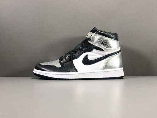 "【GOD版:乔1】 黑银Air Jordan 1  High OG Reto""Siler Toe""货号:CD0461-001_莆田god版本鞋是什么意思"