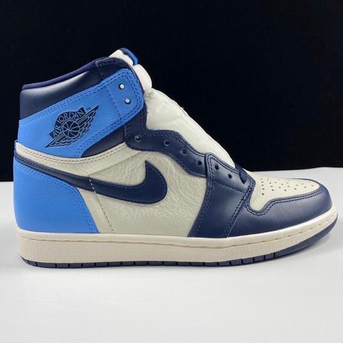 aj1黑曜石LJR版本 Air Jordan1 UNC 裕 黑曜石配色 555088-140_莆田god版本鞋做的怎么样
