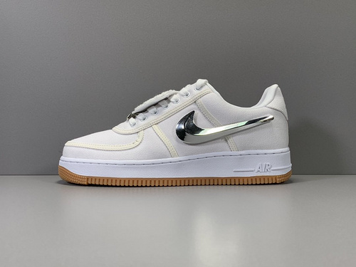GOD版_空军换勾 换勾 Travis Scott x NK Air Force 1 AF 1,货号_AQ4211-101_莆田god版本和h12版本哪个好