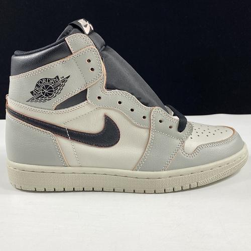 "Nike SB x Air Jordan 1 Retro High OG ""Light Bone"" 东莞AJ刮刮乐 白黑刮刮乐配色 CD6578-006_莆田god版本"